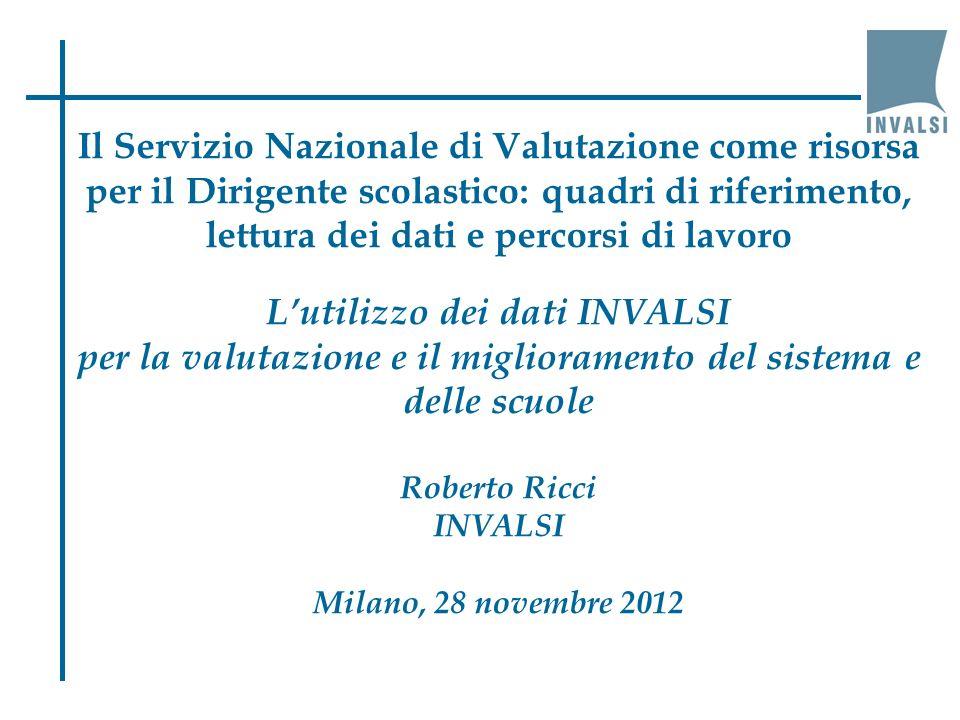 Le rilevazioni nazionali dellINVALSI a.s.2007/08a.s.