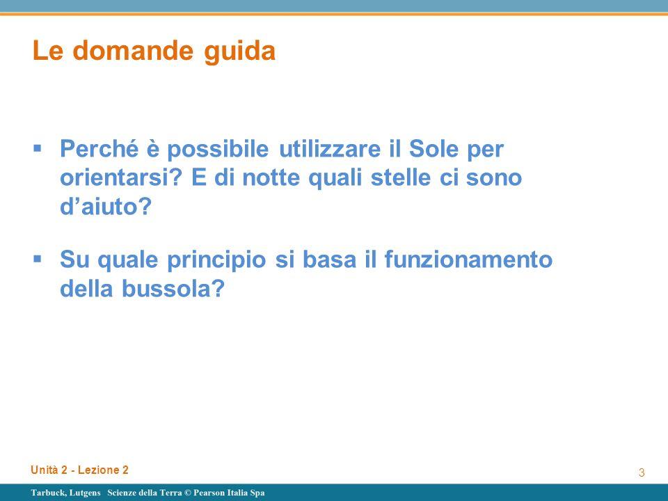 Unità 2 - Lezione 2 34 Su quale principio si basa il funzionamento della bussola.