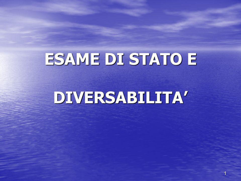 1 ESAME DI STATO E DIVERSABILITA