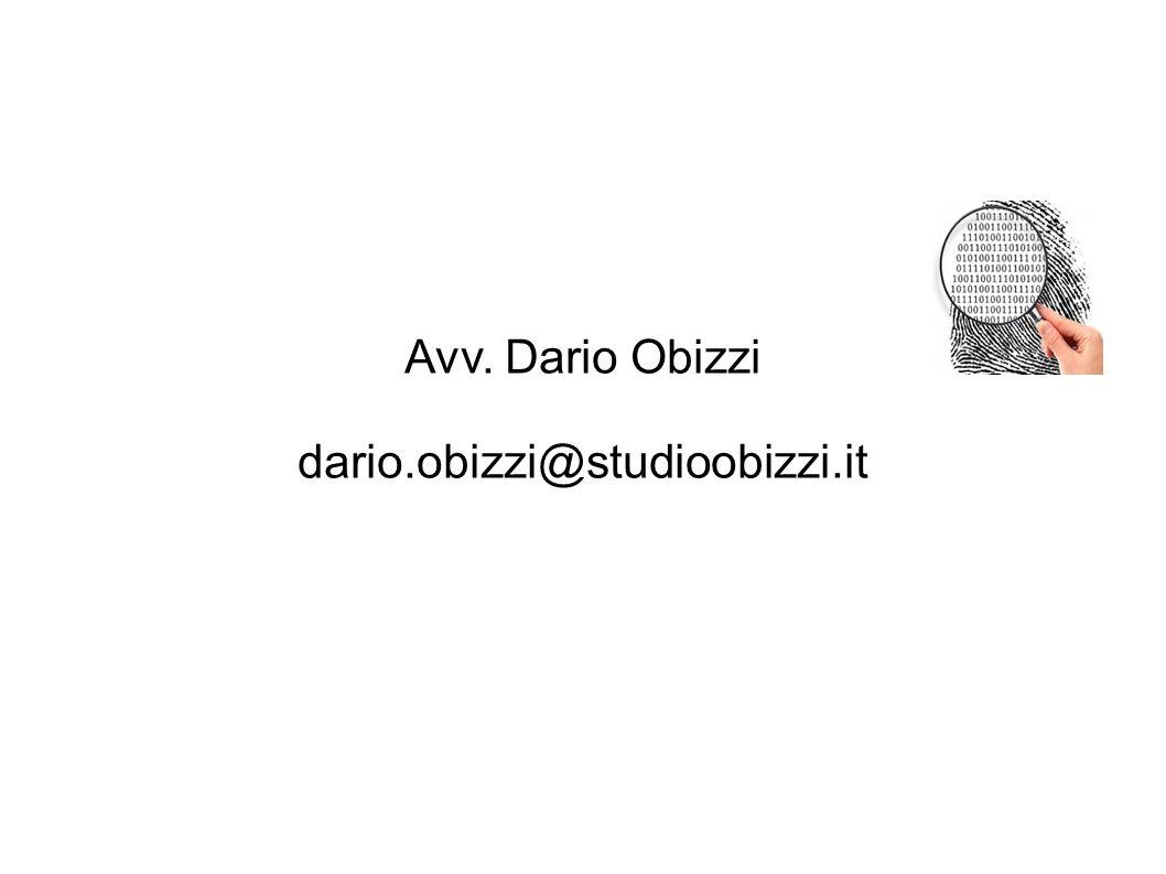 Avv. Dario Obizzi dario.obizzi@studioobizzi.it