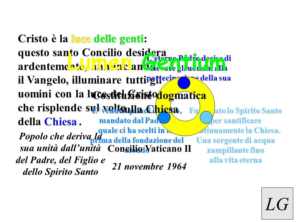 Cristo è la luce delle genti: questo santo Concilio desidera ardentemente, annunciando il Vangelo, illuminare tutti gli uomini con la luce del Cristo