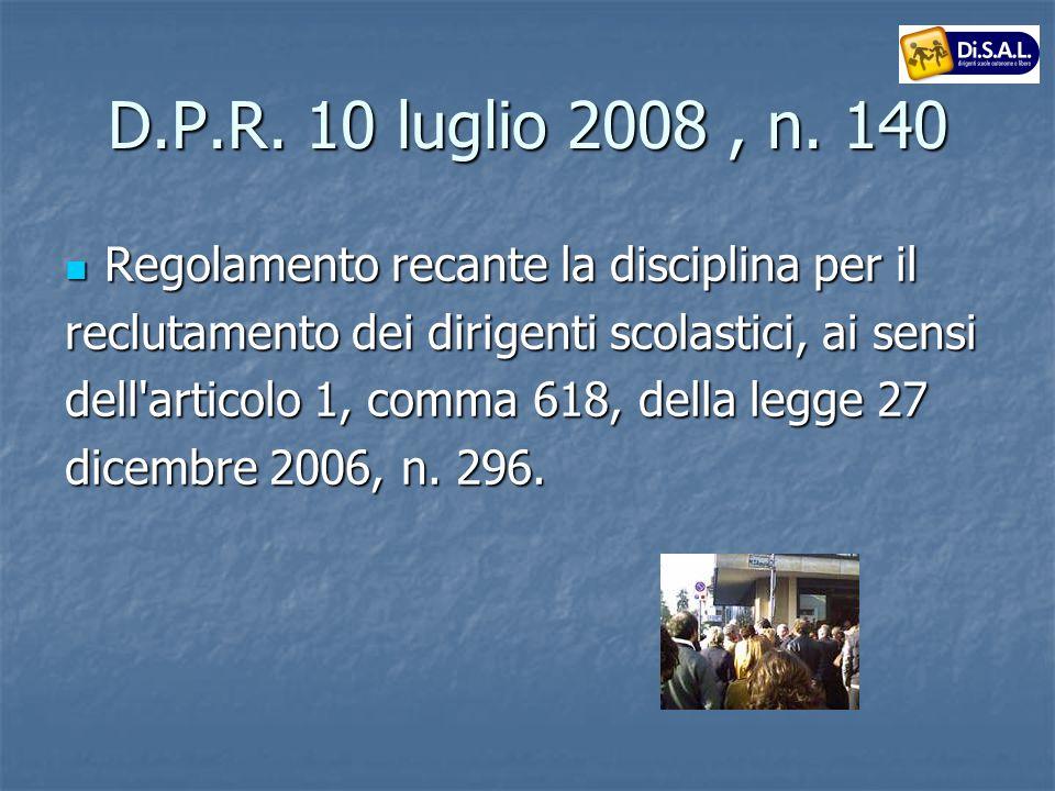 D.P.R.10 luglio 2008, n.