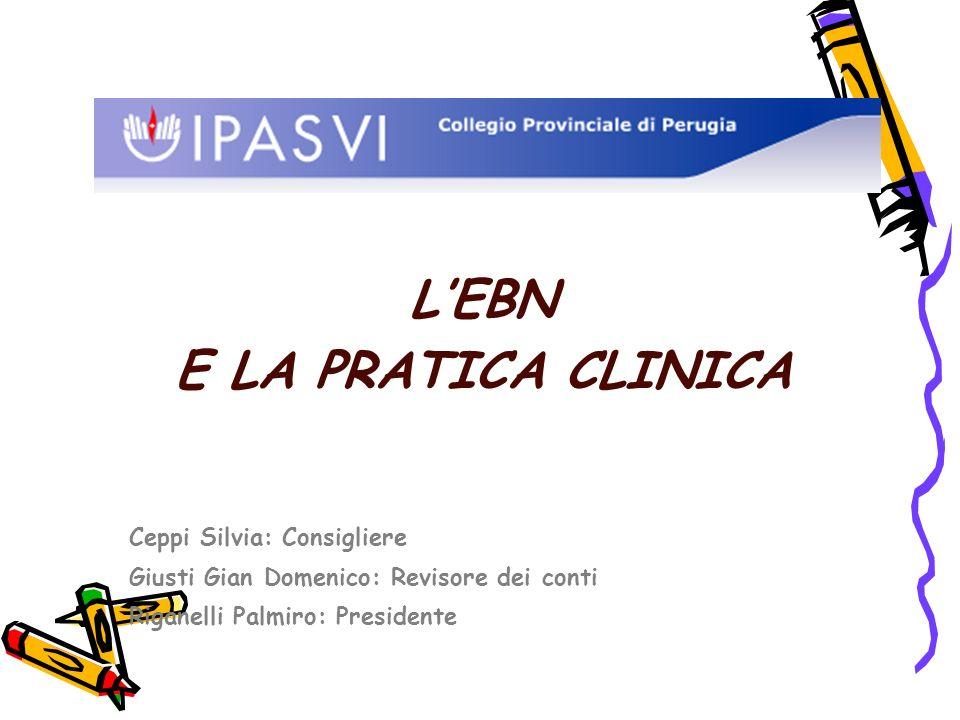 LEBN E LA PRATICA CLINICA Ceppi Silvia: Consigliere Giusti Gian Domenico: Revisore dei conti Riganelli Palmiro: Presidente