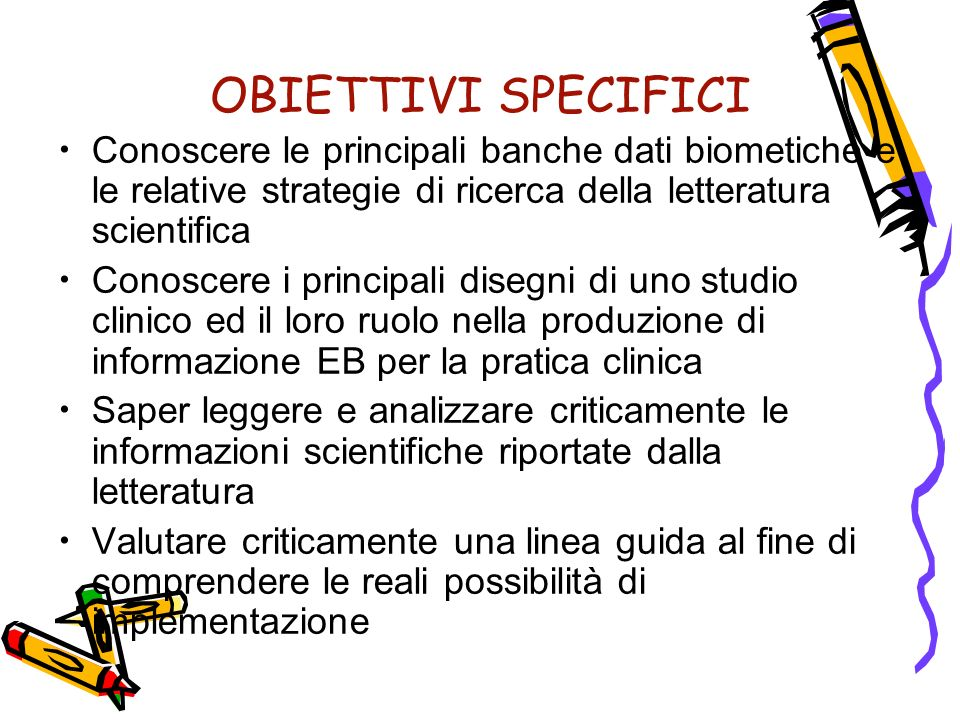Studi clinici e Prove di efficacia