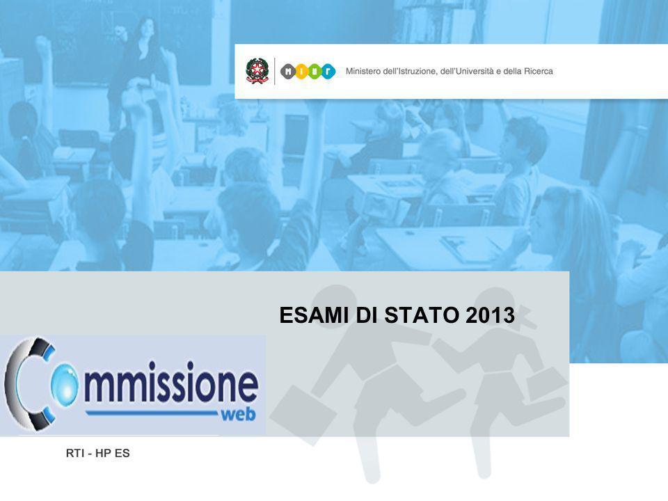 Esami di Stato – Commissione web Sintesi del processo Il processo relativo allesame di Stato si articola prima in ambiente SIDI – Esiti esami di Stato - poi su internet in «Commissione web» disponibile sul sito del MIUR.