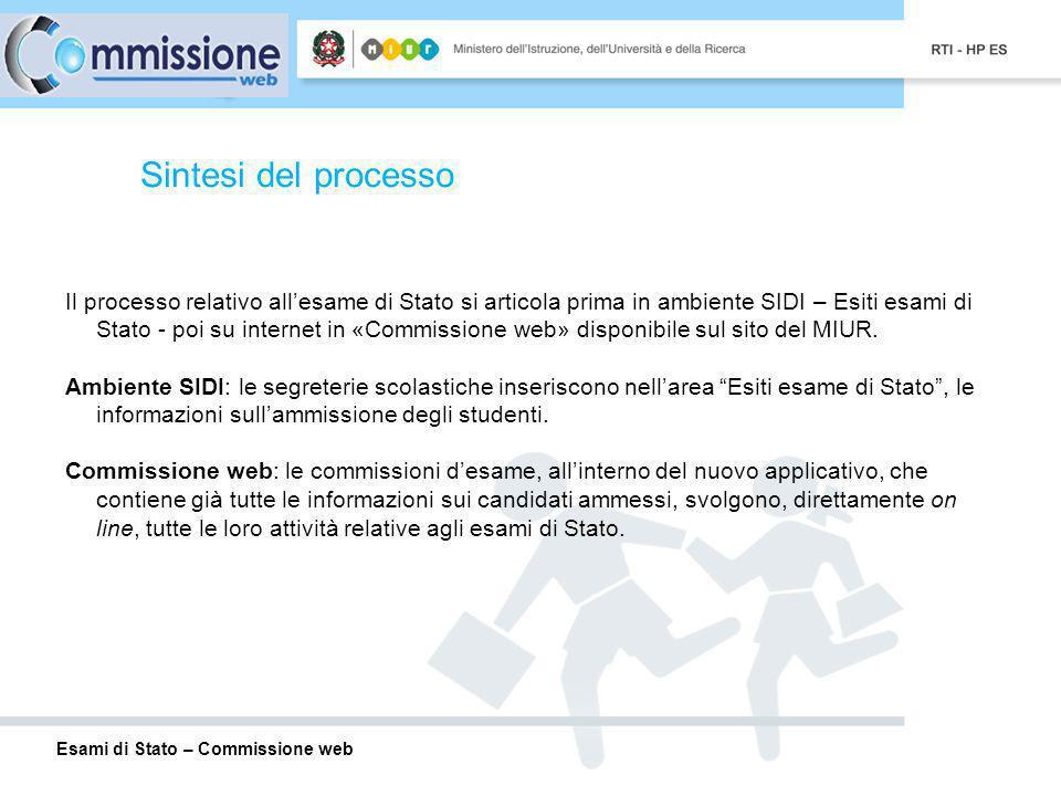 Esami di Stato – Commissione web pagina 13 Commissione Web – Insediamento Registrazione presenze dei commissari e del presidente Per ogni assenza registrare la data di assenza e leventuale necessità di sostituzione.