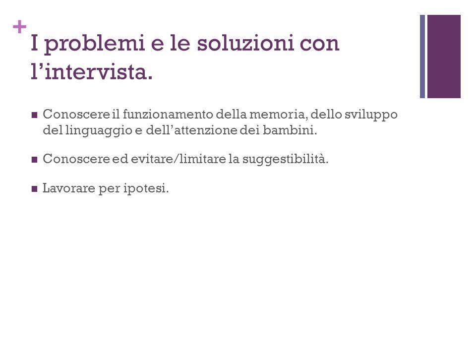 + I problemi e le soluzioni con lintervista.