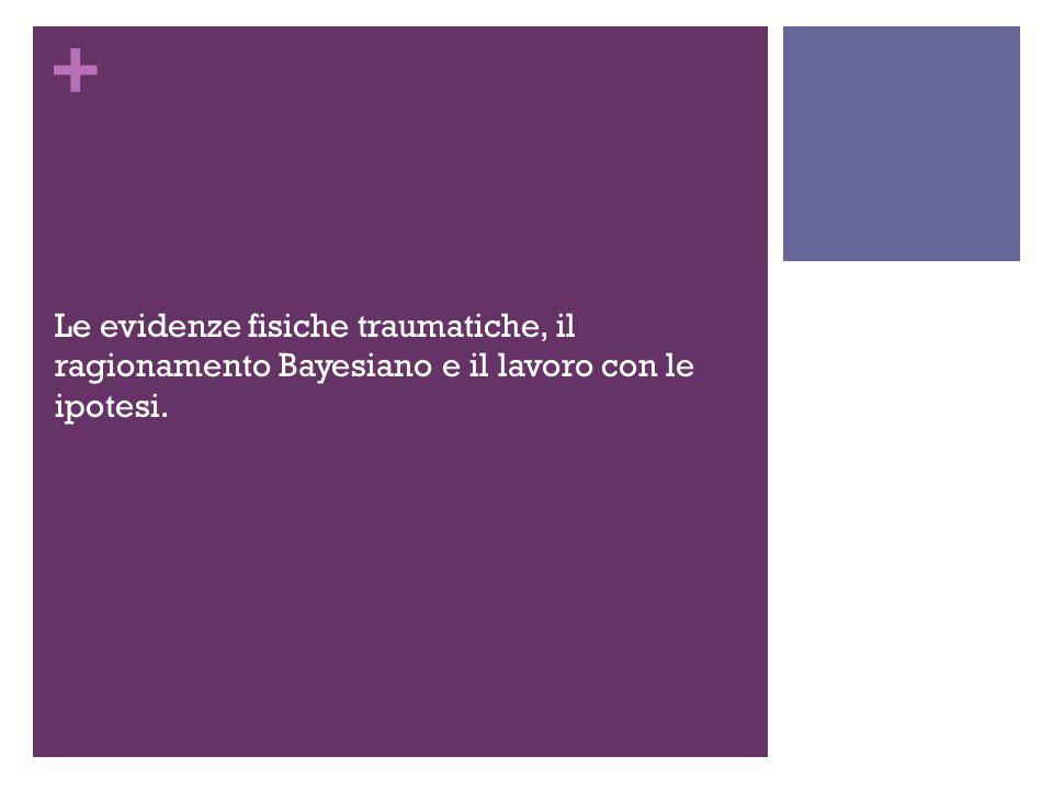 + Le evidenze fisiche traumatiche, il ragionamento Bayesiano e il lavoro con le ipotesi.