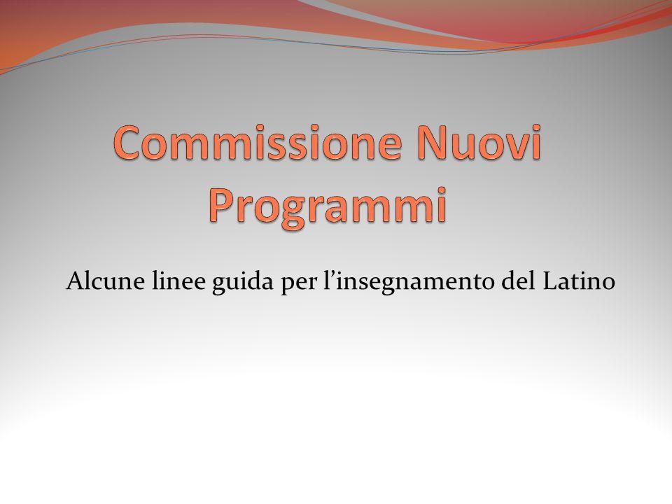 Alcune linee guida per linsegnamento del Latino