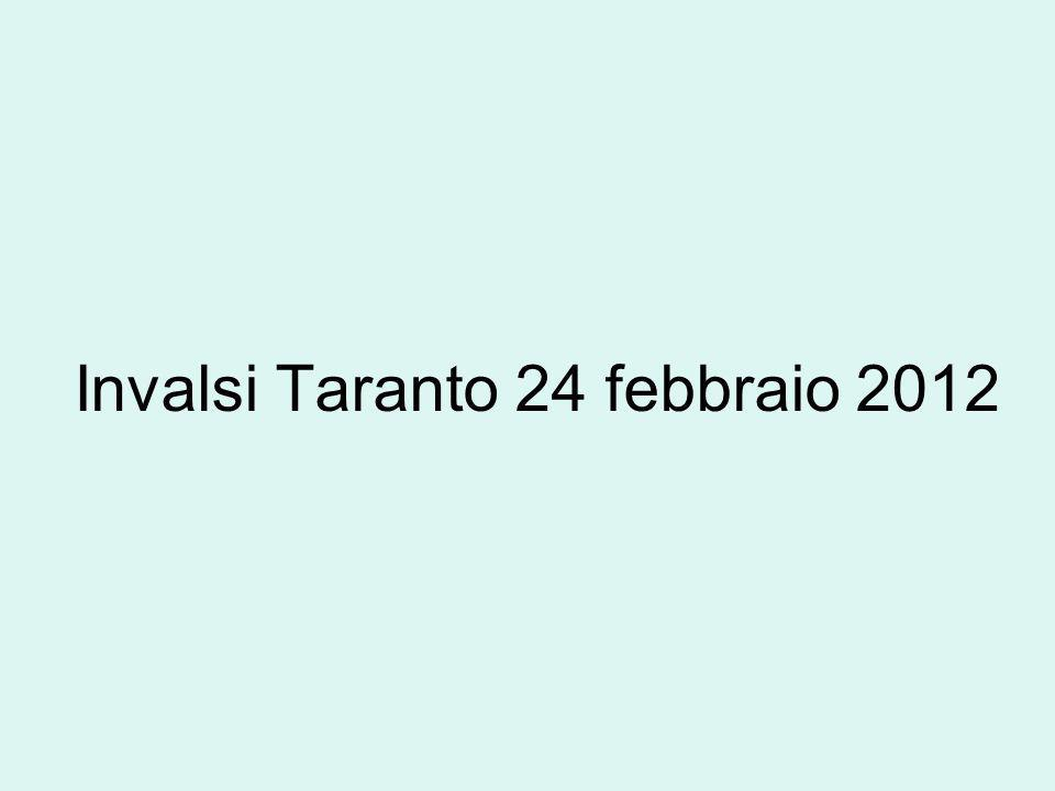 Invalsi Taranto 24 febbraio 2012