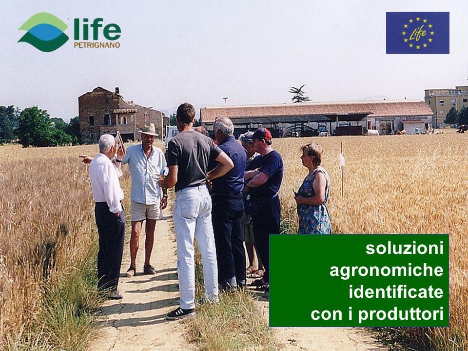 soluzioni agronomiche identificate con i produttori