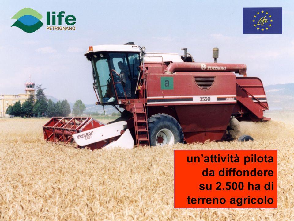 unattività pilota da diffondere su 2.500 ha di terreno agricolo