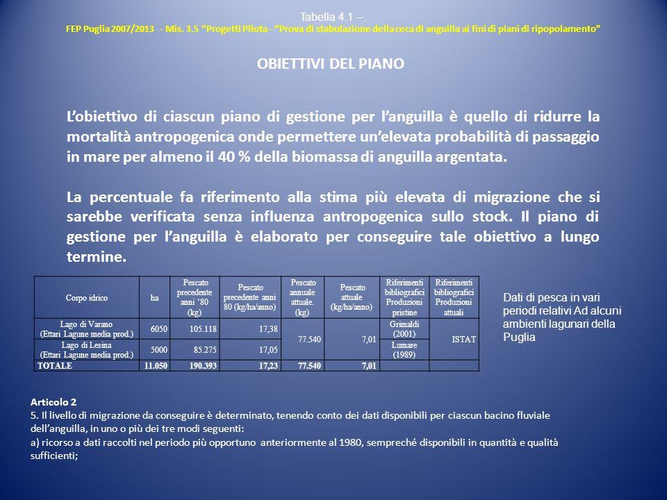 Lobiettivo di ciascun piano di gestione per languilla è quello di ridurre la mortalità antropogenica onde permettere unelevata probabilità di passaggi