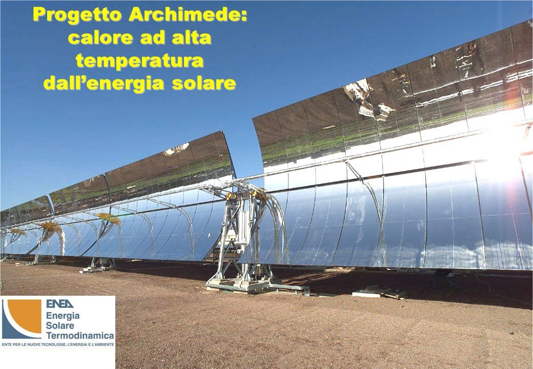 Progetto Archimede: calore ad alta temperatura dallenergia solare