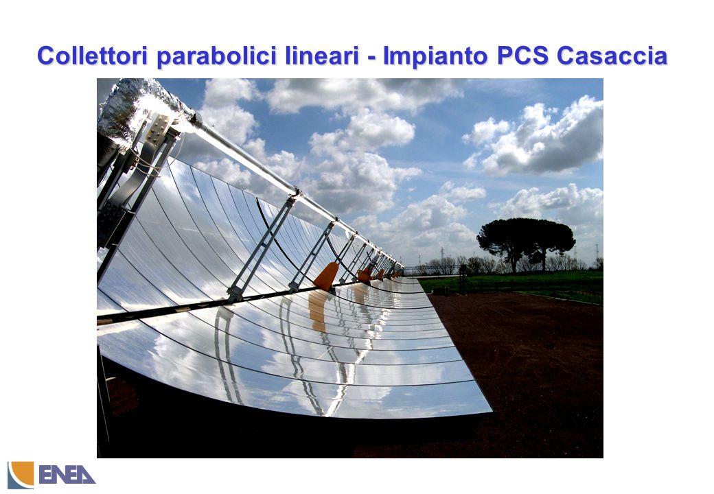 Collettori parabolici lineari - Impianto PCS Casaccia
