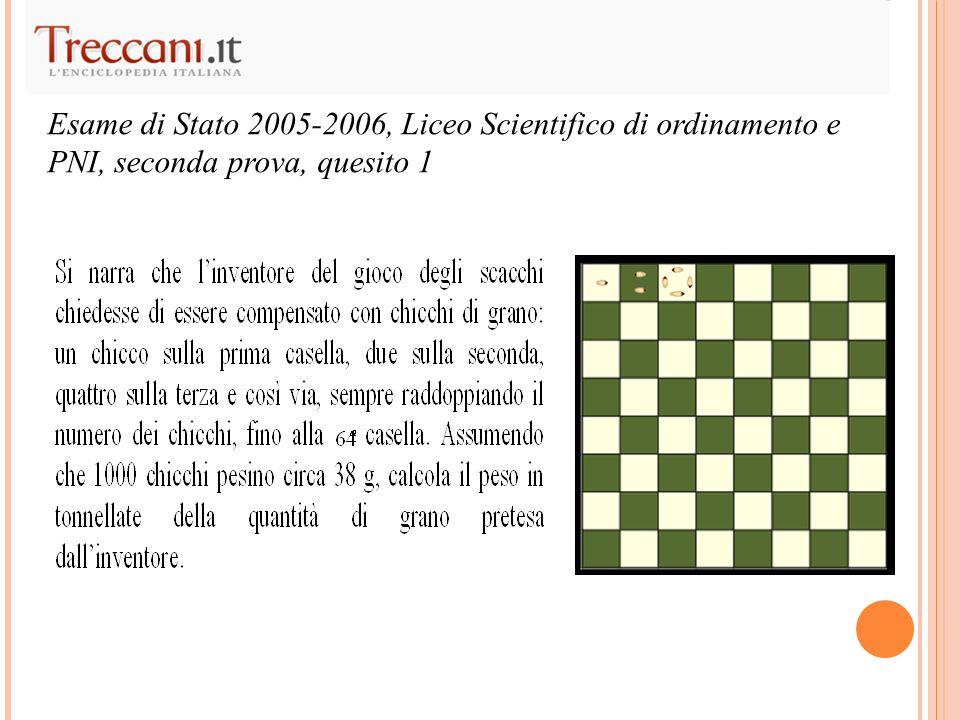 Esame di Stato 2005-2006, Liceo Scientifico di ordinamento e PNI, seconda prova, quesito 1
