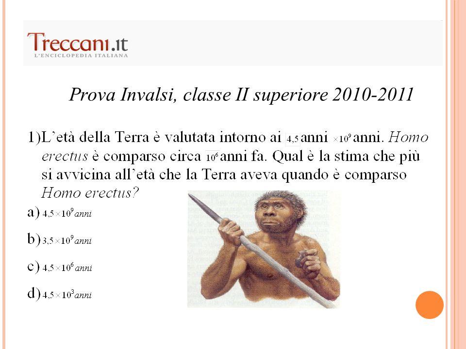Prova Invalsi, classe II superiore 2010-2011