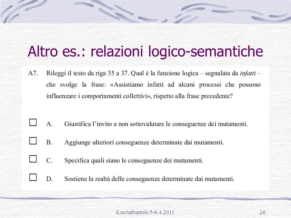 d.notarbartolo 5-6.4.201125 4.Relazioni di coesione e coerenza A10.