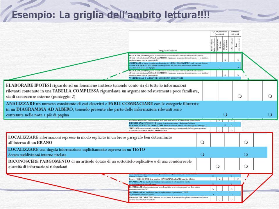 OCSE PISA è più avanti Descrizione dei compiti operativi collegati ai diversi livelli di difficoltà Esempio: rintracciare informazioni A livello 1 = risposta data con le stesse parole della domanda, in posizione centrale, su argomento noto A livello 5 = informazione implicita da raccogliere in diverse parti del testo e su argomento poco familiare