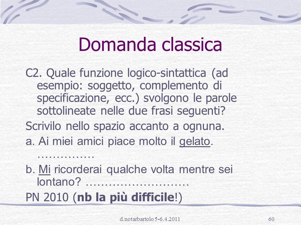 d.notarbartolo 5-6.4.201159 modelli teorici Riferimento alla tradizione per la terminologia e gli oggetti (v.