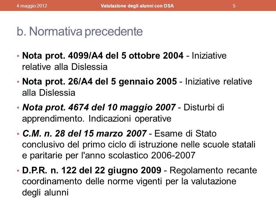 b.Normativa precedente Nota prot.