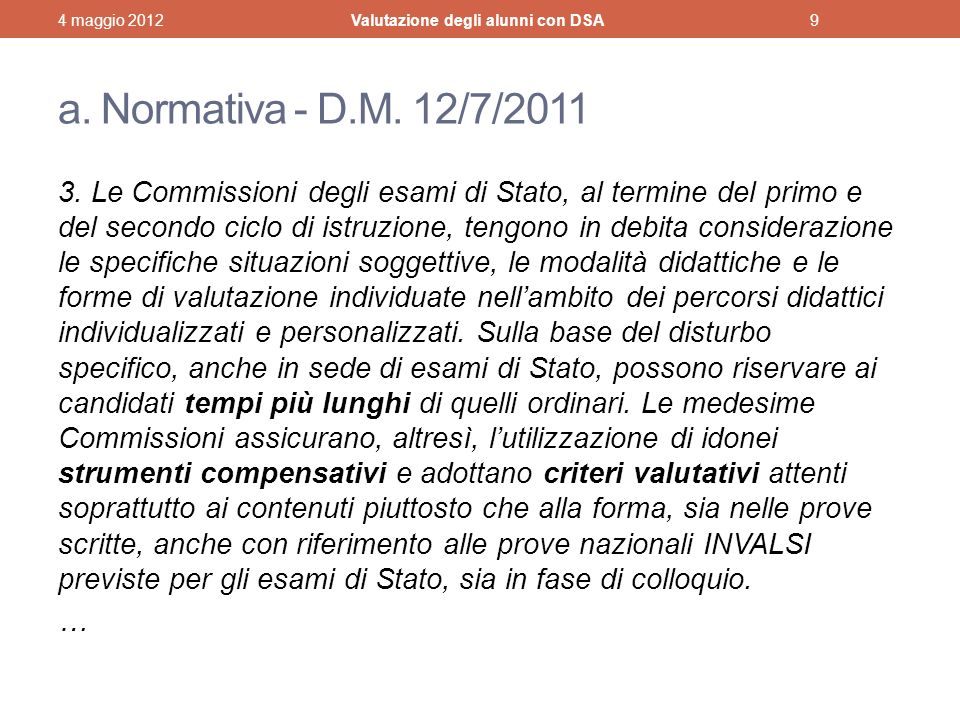 a.Normativa - D.M. 12/7/2011 3.