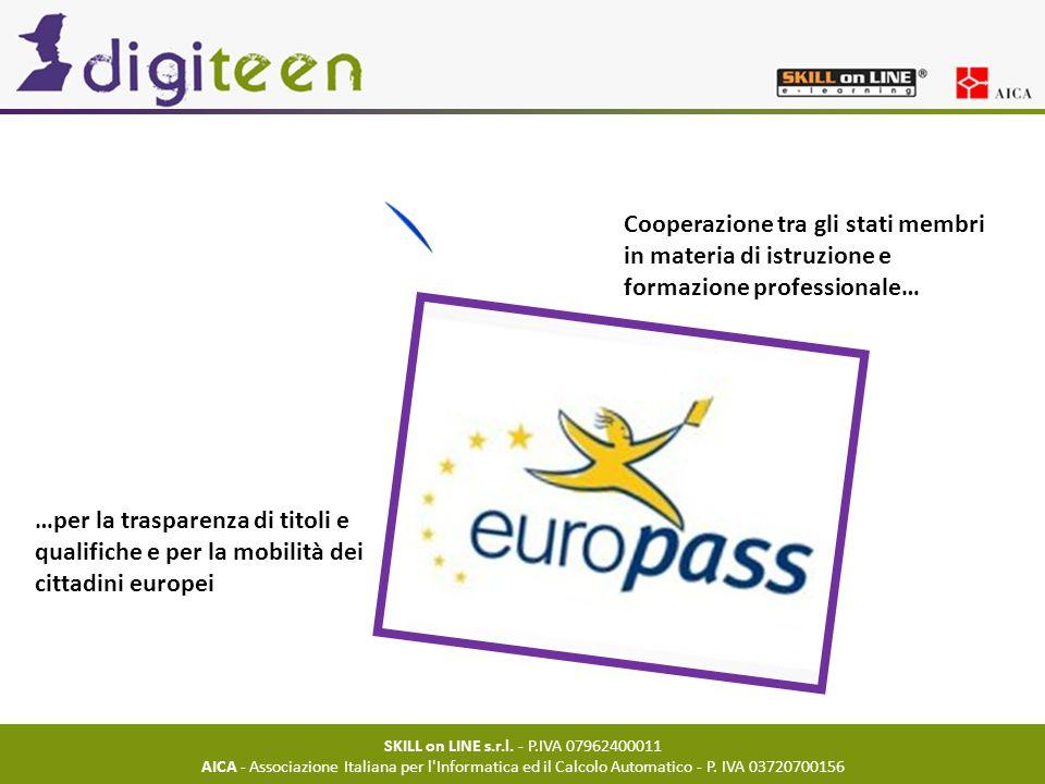 SKILL on LINE s.r.l. - P.IVA 07962400011 AICA - Associazione Italiana per l'Informatica ed il Calcolo Automatico - P. IVA 03720700156 Cooperazione tra