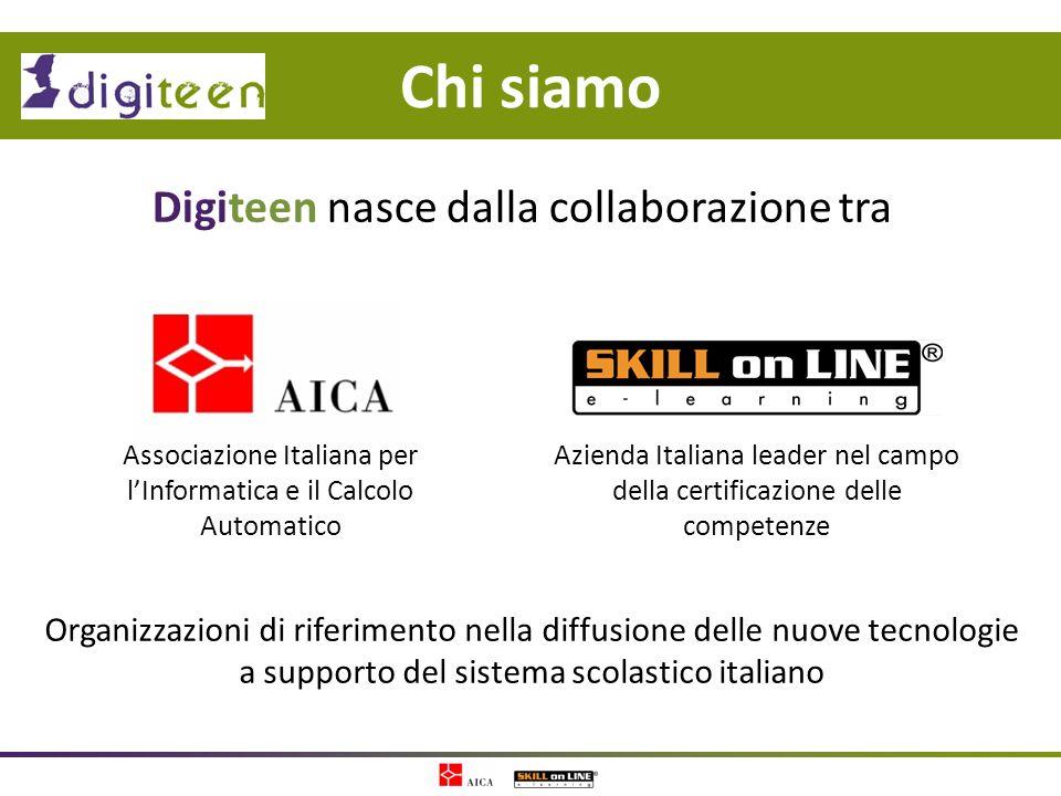 Chi siamo Digiteen nasce dalla collaborazione tra Organizzazioni di riferimento nella diffusione delle nuove tecnologie a supporto del sistema scolast