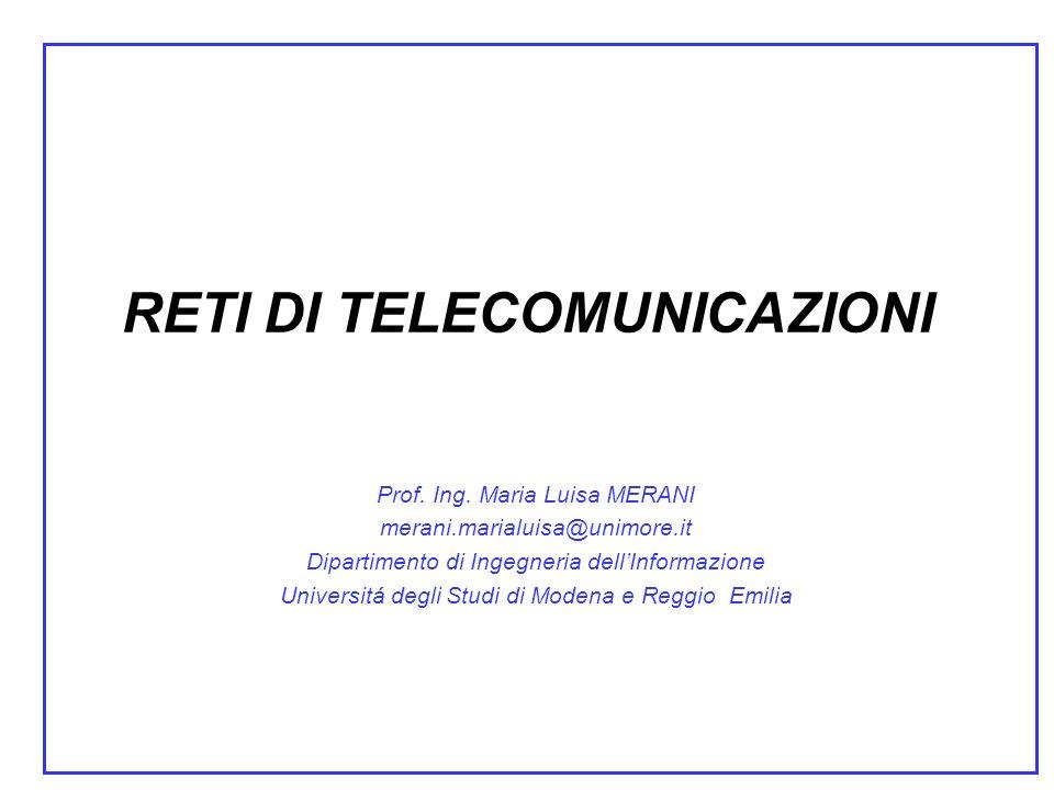RETI DI TELECOMUNICAZIONI Prof.Ing.