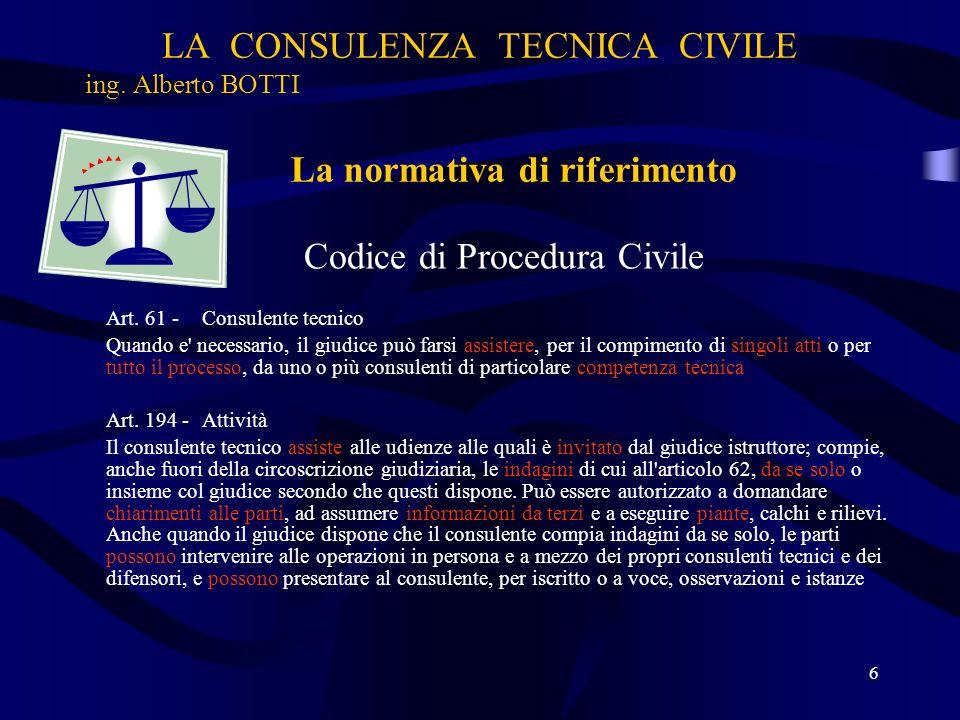 LA CONSULENZA TECNICA CIVILE ing.