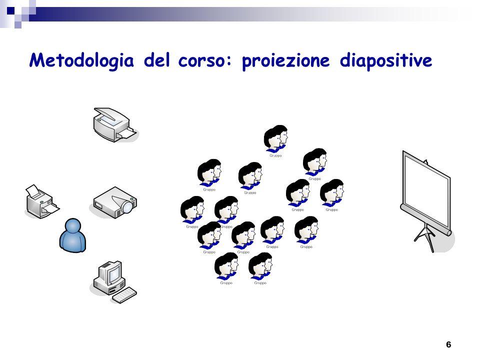 5 Metodologia del corso: presentazione docenti, studenti e corso