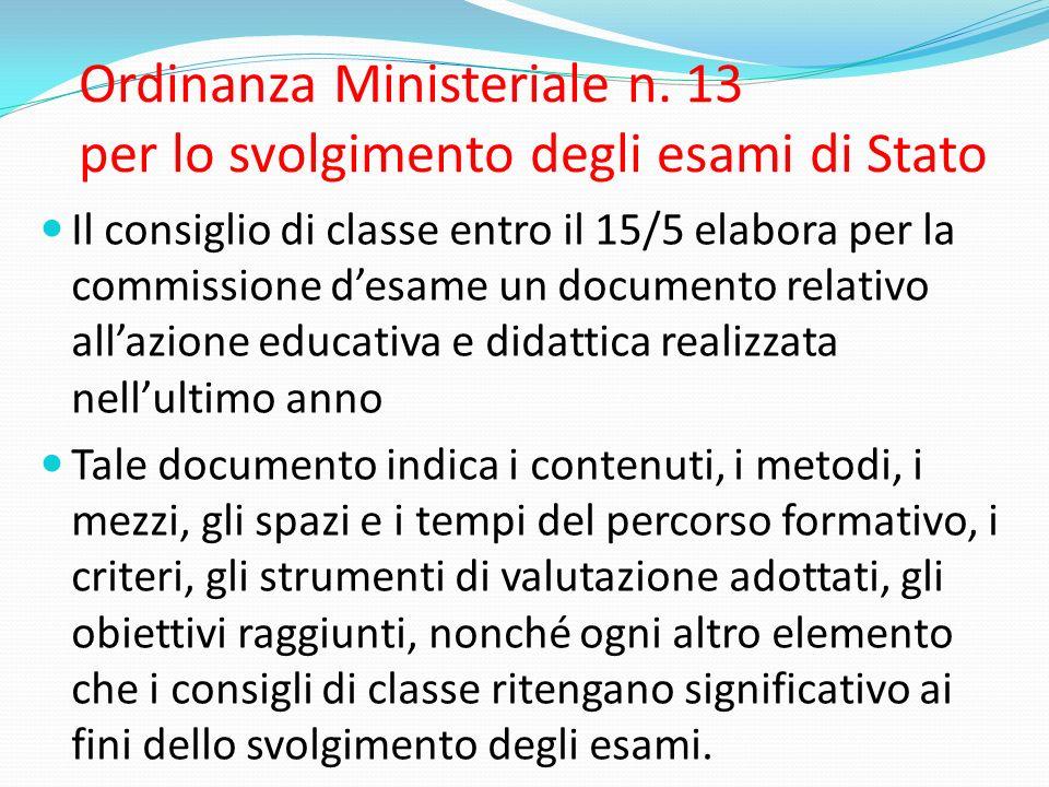 Ordinanza Ministeriale n.
