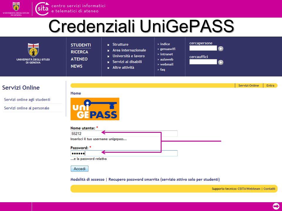 Credenziali UniGePASS