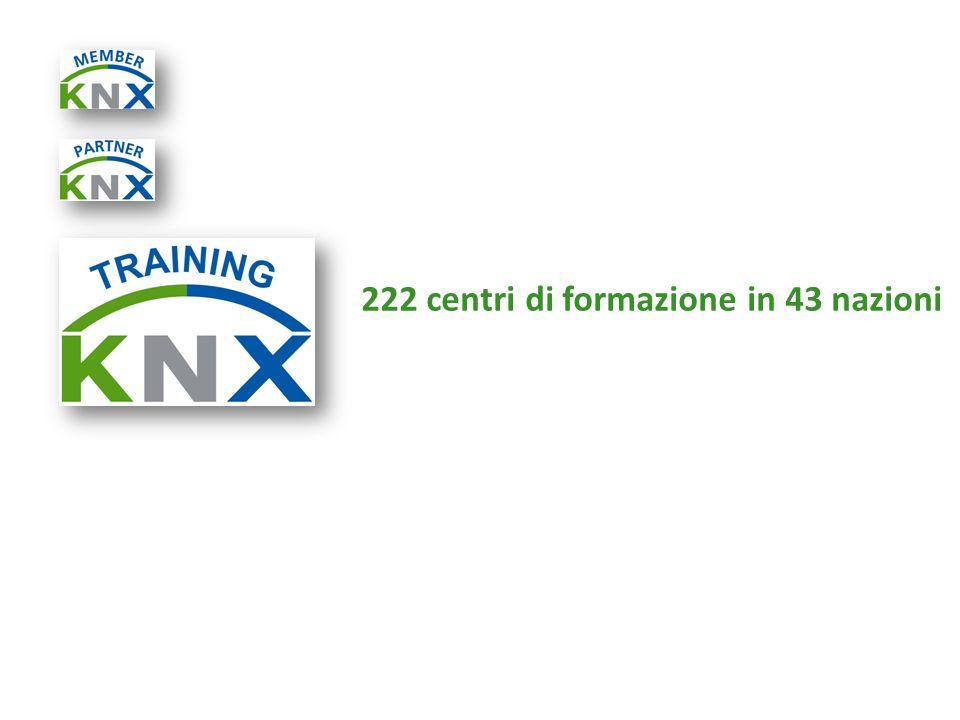 222 centri di formazione in 43 nazioni