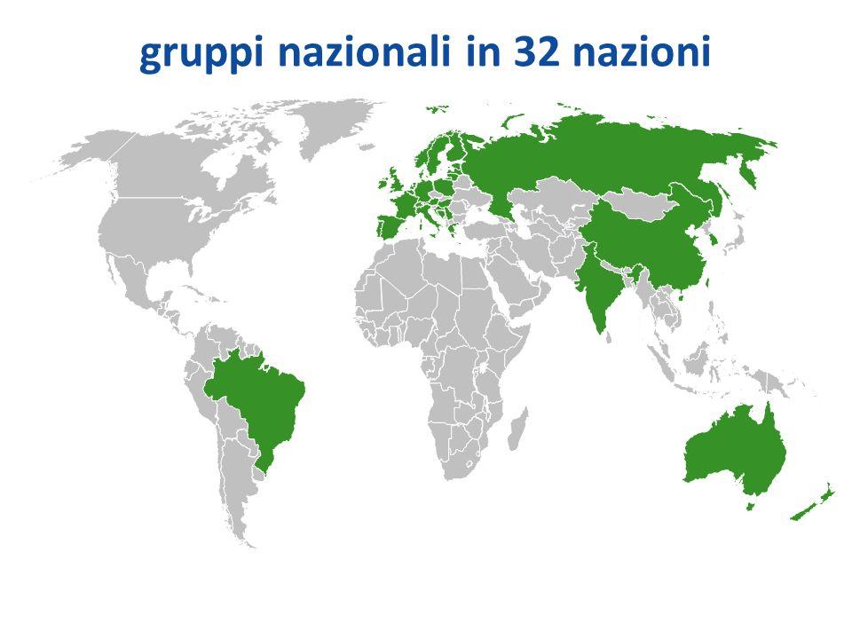 gruppi nazionali in 32 nazioni