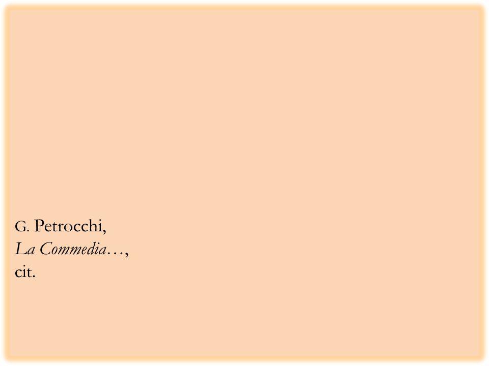 G. Petrocchi, La Commedia…, cit.