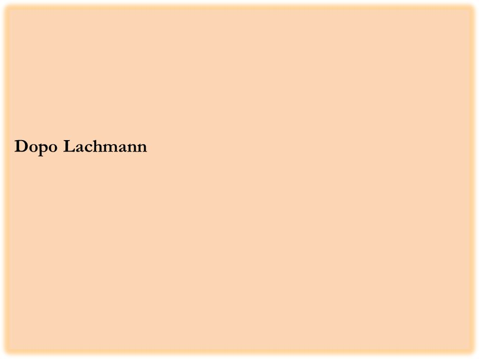 Dopo Lachmann
