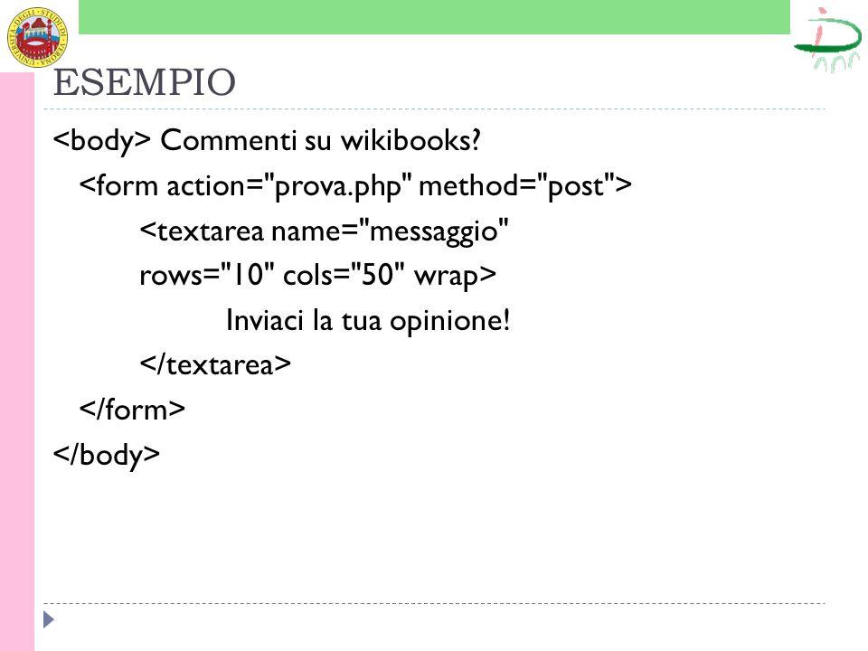 ESEMPIO Commenti su wikibooks.