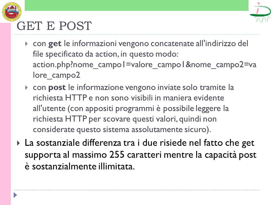 FRAMES I frames che si possono rendere in italiano con il termine riquadri sono dei porzioni di pagina indipendenti l una dell altra.