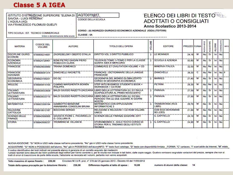 Classe 5 A IGEA