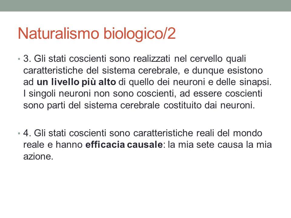 Naturalismo biologico/2 3.