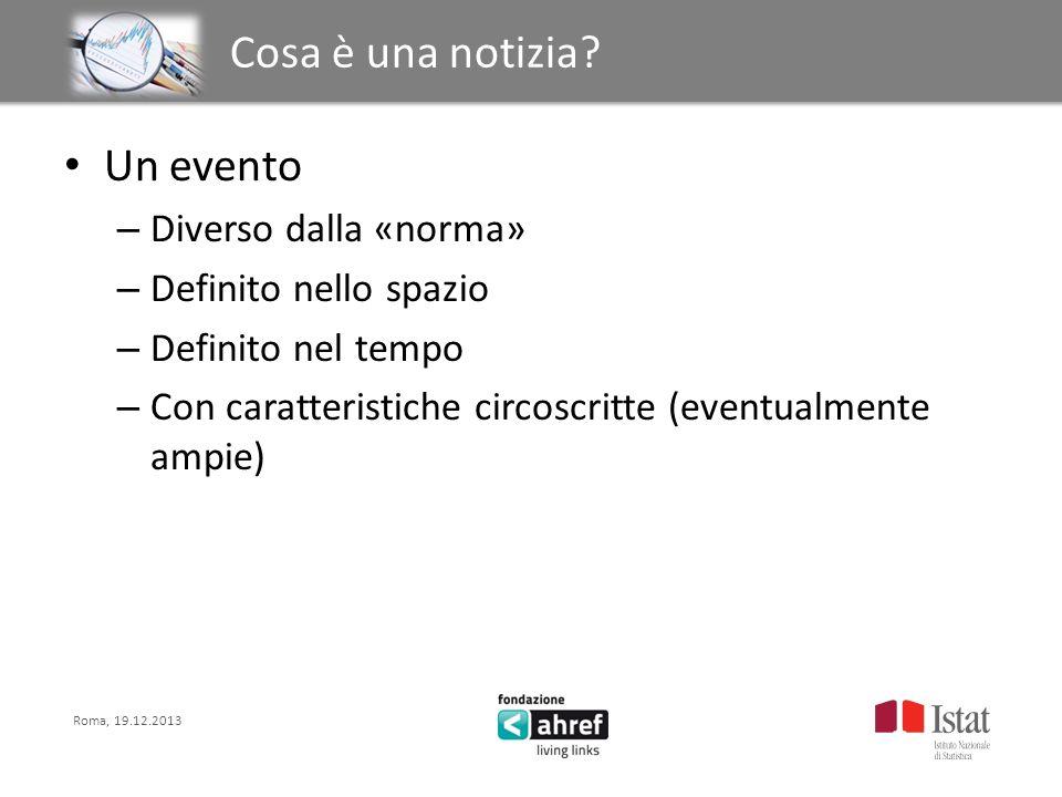 Roma, 19.12.2013 Titolo titolo titolo titolo Struttura della notizia 5W – Who is it about.