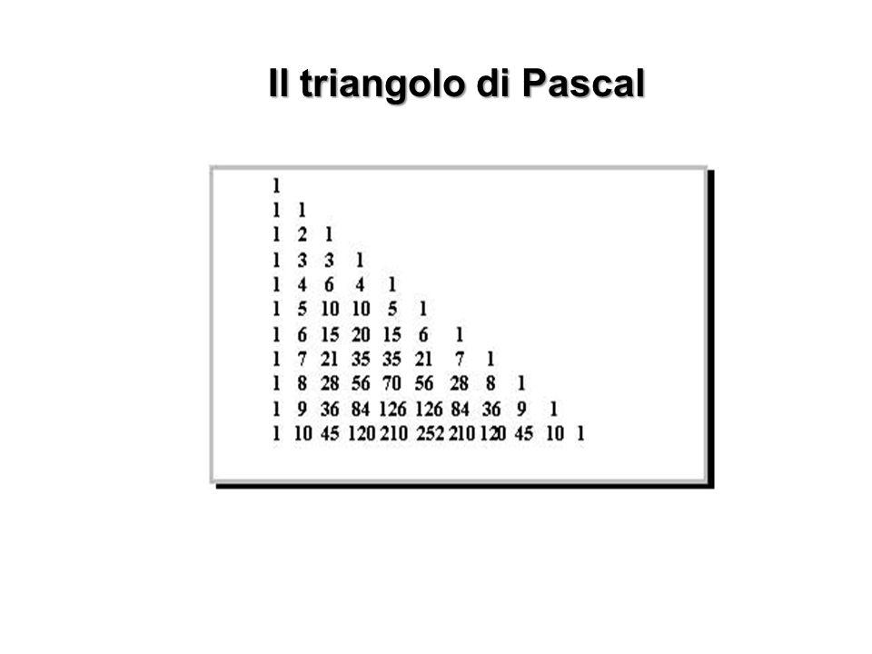 Il triangolo di Pascal