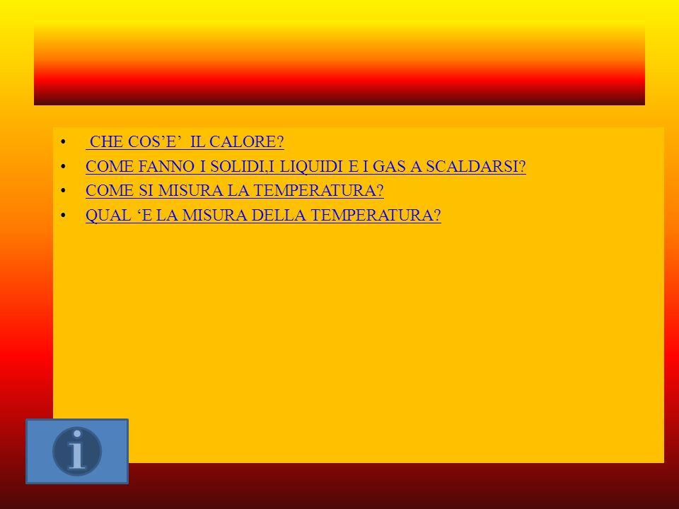 IL CALORE ANDREA FERRARIO CLASSE 5° ANNO SCOLASTICO 2012/2013 SCUOLA DI BEREGAZZO CON FIGLIARO