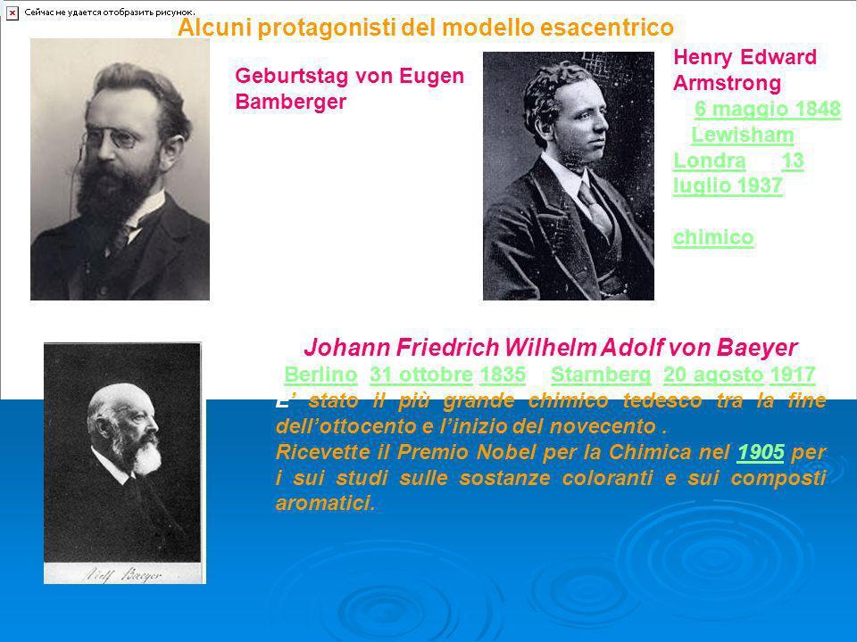 Geburtstag von Eugen Bamberger (19. Juli 1857 - 10. Dezember 1932), Professor für allgemeine Chemie am Polytechnikum Alcuni protagonisti del modello e