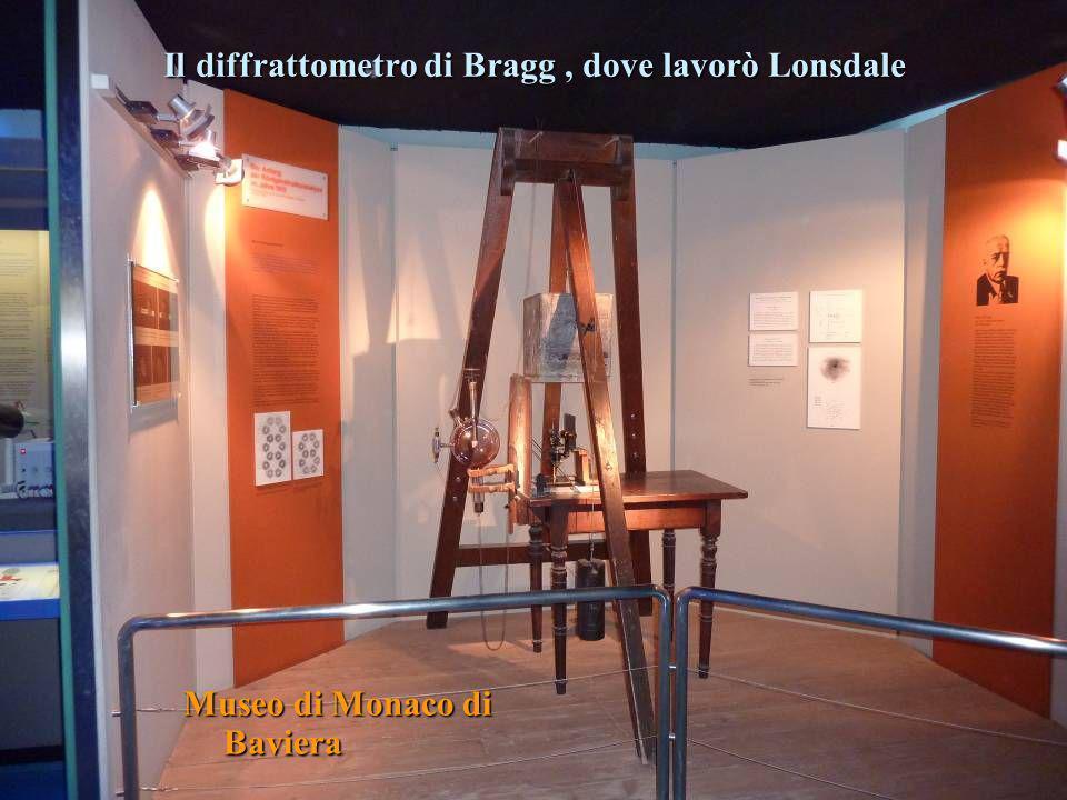 Il diffrattometro di Bragg, dove lavorò Lonsdale Museo di Monaco di Baviera
