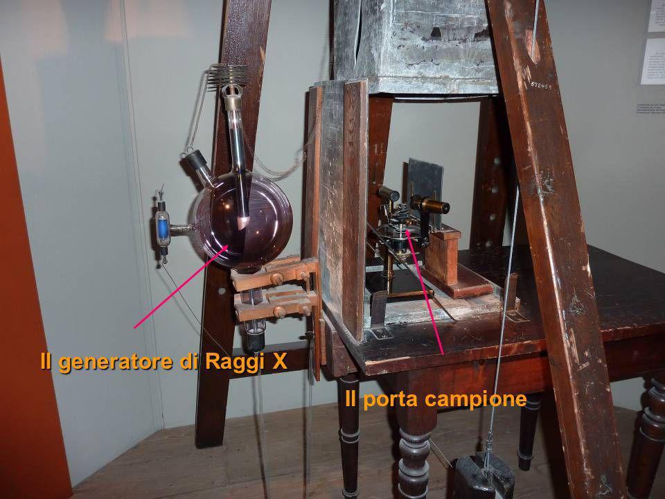 Il generatore di Raggi X Il porta campione
