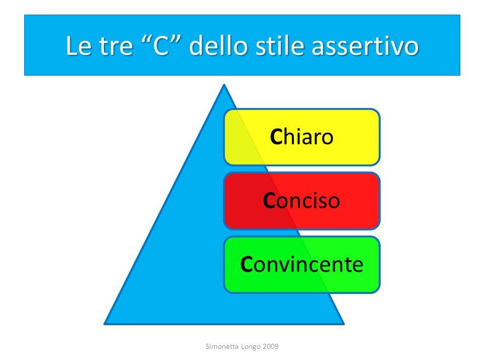Le tre C dello stile assertivo ChiaroConcisoConvincente Simonetta Longo 2009