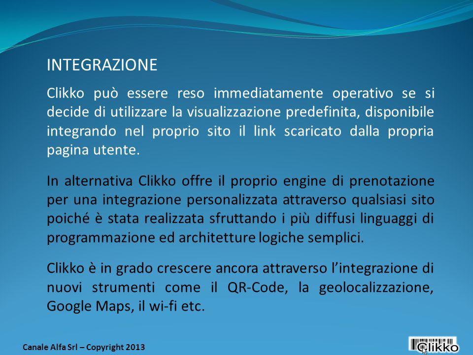 Clikko può essere reso immediatamente operativo se si decide di utilizzare la visualizzazione predefinita, disponibile integrando nel proprio sito il