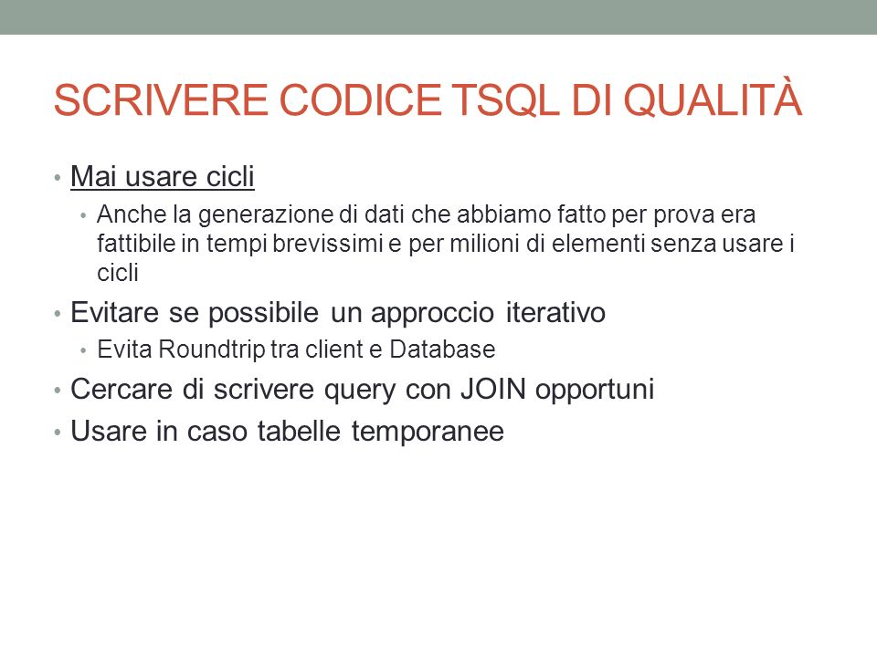 Chiamata a procedura con parametri SqlCommand cmd = new SqlCommand( spVerificaDatiTrasmissione , conn); cmd.CommandType = System.Data.CommandType.StoredProcedure; SqlParameter key = new SqlParameter( @idTrasmissione , SqlDbType.SmallInt); key.Value = 1; //id della trasmissione!!!.